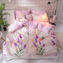 Уценка (дефекты)! Комплект постельного белья Лаванда (двуспальный-евро) (код товара: 47468)