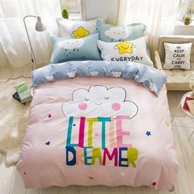 Уценка (дефекты)! Комплект постельного белья Маленький мечтатель (двуспальный-евро) (код товара: 47446): купить в Berni