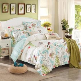 Уценка (дефекты)! Комплект постельного белья Птица (двуспальный-евро) (код товара: 47457): купить в Berni