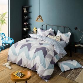 Уценка (дефекты)! Комплект постельного белья Углы (двуспальный-евро) (код товара: 47458): купить в Berni