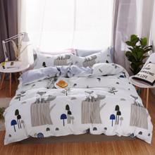Комплект постельного белья Лиса на пне (двуспальный-евро) (код товара: 47520)