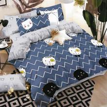 Комплект постельного белья Мистер Кот с простынью на резинке (полуторный) (код товара: 47558)