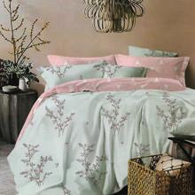 Комплект постельного белья Растения с простынью на резинке (полуторный) (код товара: 47567)