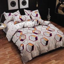 Комплект постельного белья Соты с простынью на резинке (полуторный) (код товара: 47566)