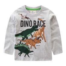 Лонгслив для мальчика Гонки динозавров оптом (код товара: 47507)