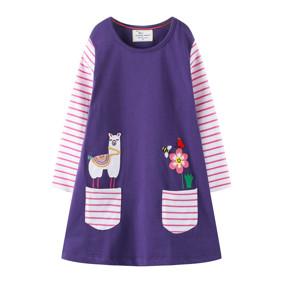 Платье для девочки Лама (код товара: 47514): купить в Berni
