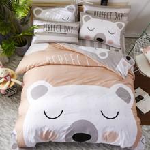 Комплект постельного белья Белый мишка (двуспальный-евро) (код товара: 47676)