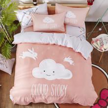 Комплект постельного белья История облака (двуспальный-евро) (код товара: 47690)