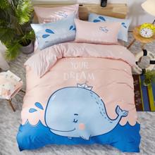 Комплект постельного белья Кит (двуспальный-евро) (код товара: 47668)