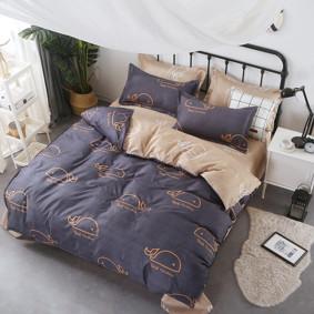 Комплект постельного белья Кит (двуспальный-евро) (код товара: 47695): купить в Berni