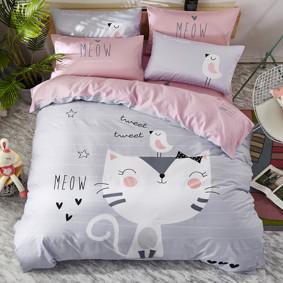 Комплект постельного белья Котенок (двуспальный-евро) (код товара: 47670): купить в Berni