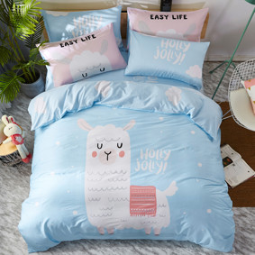 Комплект постельного белья Лама (двуспальный-евро) (код товара: 47672): купить в Berni