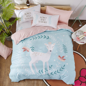 Комплект постельного белья Принцесса олененок (двуспальный-евро) (код товара: 47694): купить в Berni