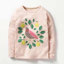 Лонгслив для девочки Птичка (код товара: 47655)