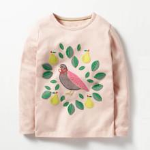 Лонгслів для дівчинки Пташка оптом (код товара: 47655)