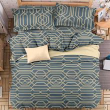 Комплект постельного белья Абстрактный узор (двуспальный-евро) (код товара: 47721)