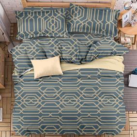 Комплект постельного белья Абстрактный узор (двуспальный-евро) (код товара: 47721): купить в Berni