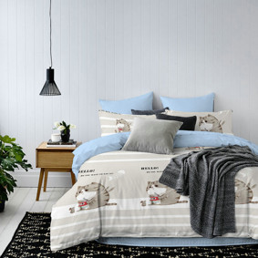 Комплект постельного белья Кошка и мышка (двуспальный-евро) (код товара: 47728): купить в Berni