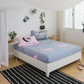 Простынь на резинке Фламинго 150x200+25 см оптом (код товара: 47796): купить в Berni