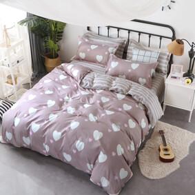 Уценка (дефекты)! Комплект постельного белья Белое сердце (двуспальный-евро)  (код товара: 47718): купить в Berni