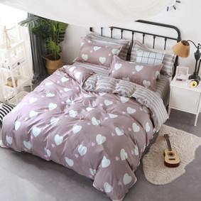 Уценка (дефекты)! Комплект постельного белья Белое сердце (полуторный) (код товара: 47717): купить в Berni