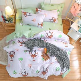 Уценка (дефекты)! Комплект постельного белья Олененок (двуспальный-евро) (код товара: 47714): купить в Berni