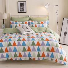 Уценка (дефекты)! Комплект постельного белья Треугольники (двуспальный-евро) (код товара: 47701)