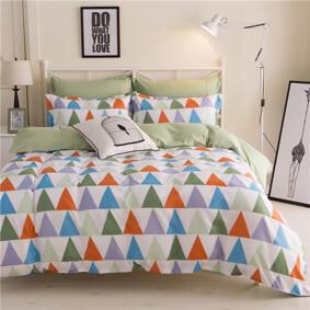 Уценка (дефекты)! Комплект постельного белья Треугольники (двуспальный-евро) (код товара: 47701): купить в Berni