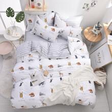 Уценка (дефекты)! Комплект постельного белья Животные (двуспальный-евро) (код товара: 47703)