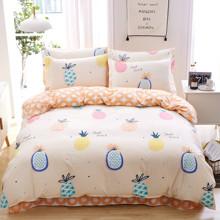 Комплект постельного белья Ананас (двуспальный-евро) (код товара: 47813)