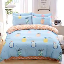 Комплект постельного белья Ананас (двуспальный-евро) (код товара: 47815)