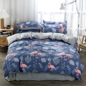 Комплект постельного белья Фламинго (двуспальный-евро) (код товара: 47809): купить в Berni
