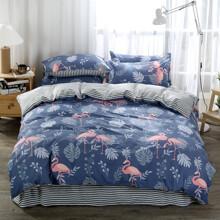 Комплект постельного белья Фламинго (полуторный) (код товара: 47808)
