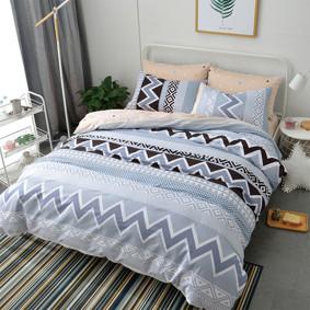 Комплект постельного белья Геометрический узор (полуторный) (код товара: 47806): купить в Berni