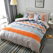 Комплект постельного белья Кривые линии (двуспальный-евро) (код товара: 47803)