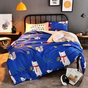 Комплект постельного белья Лесные животные (полуторный) (код товара: 47892): купить в Berni
