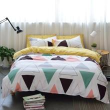 Комплект постельного белья Треугольники (двуспальный-евро) (код товара: 47805)