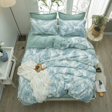 Комплект постельного белья Тропическая листва (полуторный) оптом (код товара: 47922)