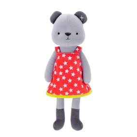 Мягкая игрушка Медвежонок в красном платье, 35 см (код товара: 47988): купить в Berni