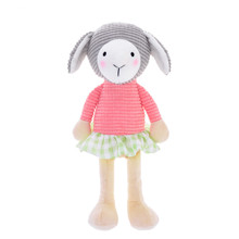 М'яка іграшка Овечка в рожевій кофтині, 24 см оптом (код товара: 47990)