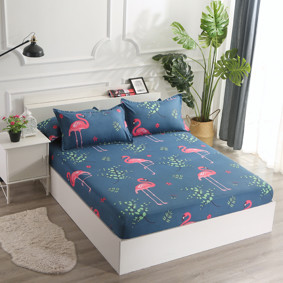 Простынь на резинке Большой фламинго 120x200+25 см (код товара: 47940): купить в Berni