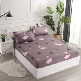 Простынь на резинке Фламинго 180x200+25 см (код товара: 47927): купить в Berni