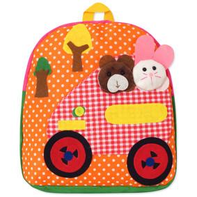 Рюкзак Машина з тваринами, помаранчевий (код товару: 47904): купити в Berni