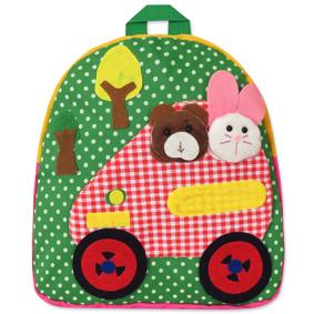 Рюкзак Машина з тваринами, зелений (код товару: 47905): купити в Berni