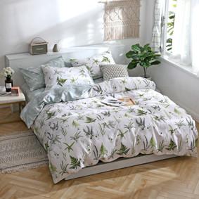 Комплект постельного белья Папоротники (двуспальный-евро) (код товара: 48097): купить в Berni