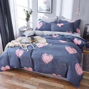 Комплект постельного белья Розовое сердце (полуторный) (код товара: 48088): купить в Berni