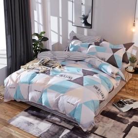 Комплект постельного белья Треугольники (двуспальный-евро) (код товара: 48093): купить в Berni