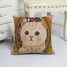 Подушка декоративна Кішечка - красуня 45 х 45 см оптом (код товара: 48074)