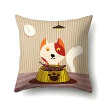 Подушка декоративна Кіт снідає 45 х 45 см оптом (код товара: 48056)