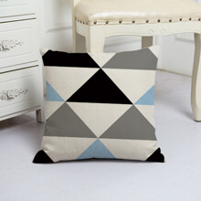 Подушка декоративна Великі трикутники 45 х 45 см оптом (код товара: 48077)